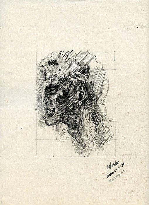 Head of satyr