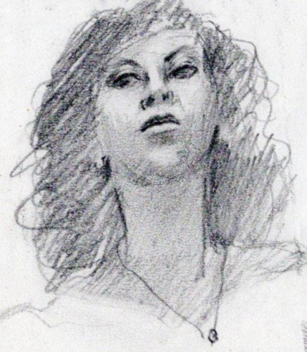 Self portrait done in pencil